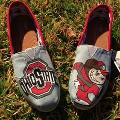 Ohio State Toms -Custom Hand Painted Toms- Ohio State Gift