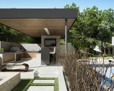 Contemporary Exterior Contemporary Pool Backyard Design, Pictures, Remodel, Decor and Ideas - page 41