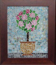 Mosaic Topiary Tree by RuffinoGlassStudio on Etsy, $85.00