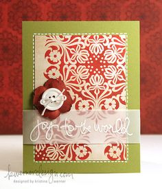 KW - Holiday Card Series ...I'm thiking replace with bride's wedding colors and this could be a bridal shower card.
