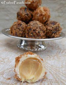 Praliné Paradicsom: Sós karamellás bonbon Almond, Cake, Food, Candy, Caramel, Kuchen, Essen, Almond Joy, Meals