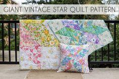 In Color Order: Giant Vintage Star Quilt Tutorial