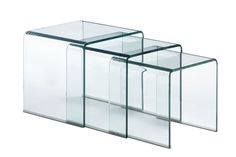 Zuo Modern Explorer Nes in Ting Table  in Clear Glass