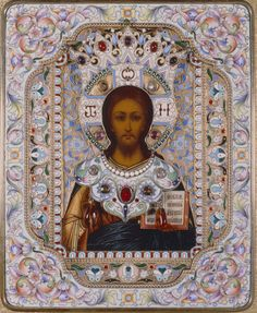 Christ, the Pantocrator. / Russian Icon Collection at M & G at Bob Jones University.  Details: http://bjumg.org/russian-icon-collection/