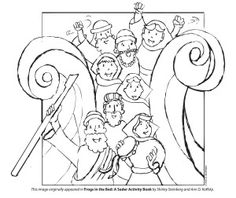 12-page new passover coloring book - printables - jewish kids ... - Passover Coloring Pages Printable