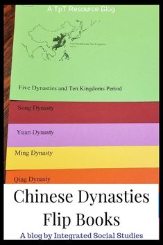 Help your students stay organized while learning about Chinese Dynasties. Construct these flip books for them (better yet, have them do it) and use them for notetaking. The dynasties will always be in order and if you buy the version with historical maps, students will always have a reference to the boundaries. Read all about them before heading to my TpT store.  #tptblog #asianhistory #worldhistory #historyresources #notetaking