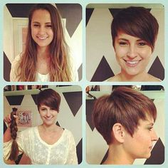 Short Hair — #pixiestyle , #pixiecropped , #longtoshort ,...
