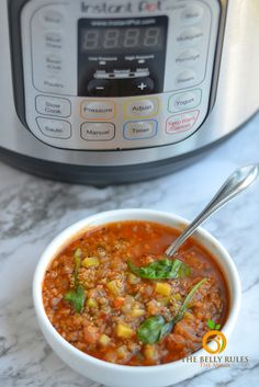 Instant Pot Vegetable Quinoa Soup (V+GF)   The Belly Rules The Mind
