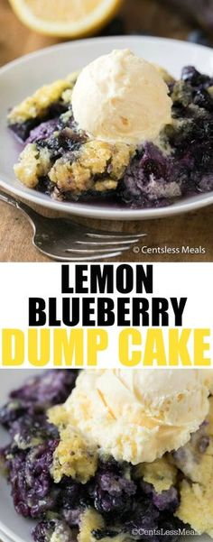Lemon Blueberry Dump Cake is so easy you may never believe how delicious it is until you give it a try! Fresh blueberries and a lemon cake mix create a fruity, zesty dump cake that will satisfy even the biggest skeptic!