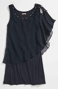 Sally Miller Beaded Flower Cutout Dress (Big Girls) | Nordstrom