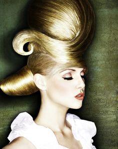 amazing feminine artistic flair... art meets hair style Photo and Stylist: Eric Fisher, Wichita, KS - long blonde Hairstyles