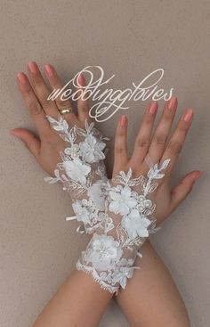 WEDDINGGloves Original design ivory wedding Glove Fingerless Glove, High Quality, free ship, UNIQUE,
