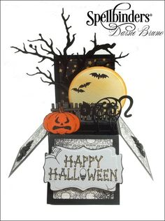 Halloween Pop Up Box By Darsie Bruno for @spellbinders