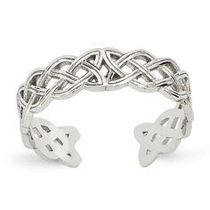 Toe Ring in 14 karat white https://www.goldinart.com/shop/rings/toe-rings/toe-ring-in-14-karat-white #CelticKnot, #ToeRing