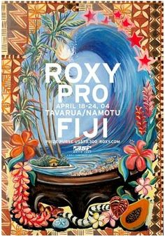 SURFER OCEAN ARTIST PAINTING FIJI ROXY PRO
