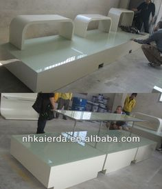 Guangdong 2 Tier Nesting Retail Display Tables With Wood Tops