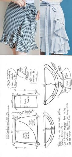 58 Trendy Ideas For Sewing Diy Clothes Dress Tutorials Sewing Dress, Diy Dress, Sewing Clothes, Dress Sewing Patterns, Clothing Patterns, Diy Clothes, Wrap Dress Patterns, Skirt Patterns, Robe Diy