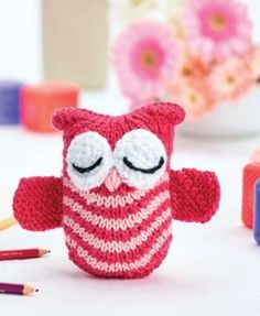 Olive the Owl - free knitting pattern download from Let's Knit!