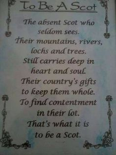 A thought for you... By Jean McGill Source: South Bay Scottish Society
