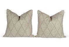 Tahitian Geometric Pillows, Pair on OneKingsLane.com