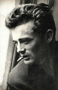 Actor James Dean smoking a cigarette by Pin-up Magazines Hollywood Actor, Hollywood Stars, Classic Hollywood, Old Hollywood, James Dean Photos, People Smoking, East Of Eden, Actor James, Don Juan