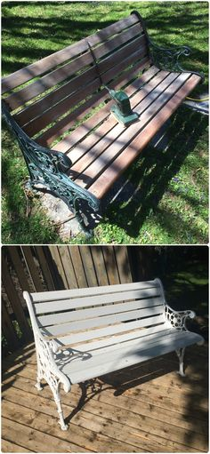 Bench painted Outdoor Furniture, Outdoor Decor, Bench, Hands, Crafty, Quilts, Park, Home Decor, Decoration Home