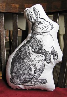 Reposhture Studio: Bunny Pillows and How to use iron-on transfer paper