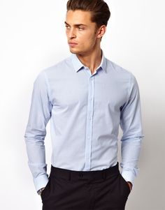 ASOS White/Blue Striped Shirt £22 Product Code: 340933