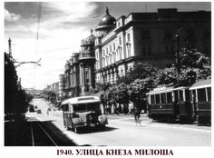 Kneza Milosa street in 1940 - Belgrade ~ Serbia