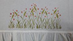 천아트 발란스 커튼 만들고 꽃그림 그려 보았네요