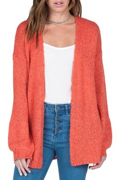 Volcom 'Mellow Bellow' Open Cardigan available at #Nordstrom $69.50 (worn by cmcoving)
