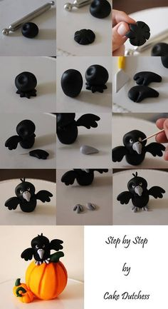 Hallowen Bird...tutorial