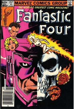 Fantastic Four #257, August 1983, cover by John Byrne.