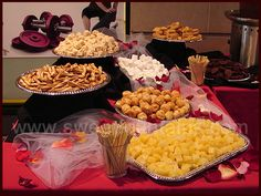 food ideas for graduation party chocolate fountain