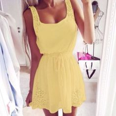 For Sale: Yellow Mini Dress for $12