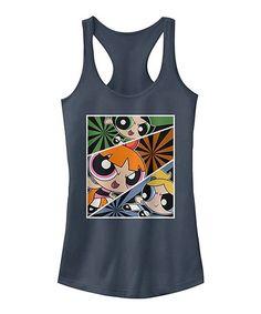865990cb597eb Fifth Sun Navy Heather Powerpuff Girls Racerback Tank - Juniors