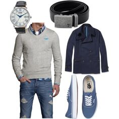 """""""Blue Classy Casual"""" by kristinmadsen on Polyvore"""
