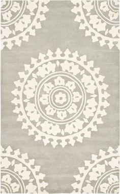 modernrugs.com gray cream beige white mandala floral neutral rug