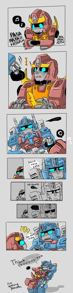 TF - Roddy + Magnus by yamcat.deviantart.com on @DeviantArt//Aww, this one's ADORABLE! ^^D