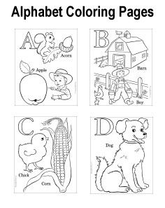 Alphabet coloring pages - Free, printable learning fun!