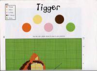 "Gallery.ru / elypetrova - Альбом ""44"" Eeyore, Tigger, Pink Brown, Pink And Green, Winnie The Pooh, Pooh Bear, Cross Stitching, Cross Stitch Patterns, Stitching Patterns"