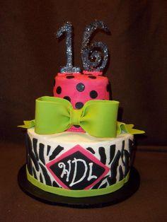Sweet 16 Birthday Cake #birthdaycake #sweet16