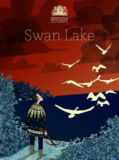 "thingsbydan: "" Did a poster for the Pointe Blank Swan Lake show for the Birmingham Royal Ballet. Ballet Posters, Swan Lake Ballet, Theatre Shows, Royal Ballet, Fairy Tales, Wallpaper, Birmingham, Berry, Theater"