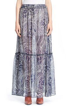 SEE BY CHLOÉ Print Maxi Skirt. #seebychloé #cloth #