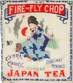蘭字 vintage Japan, tea picked in May