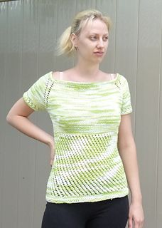 This top is very close fitting, designed with approximately 2 inches of negative ease.