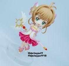 Card Captor Sakura Princess Peach, Disney Princess, Cardcaptor Sakura, Clay Art, Tinkerbell, Chibi, Polymer Clay, Disney Characters, Fictional Characters