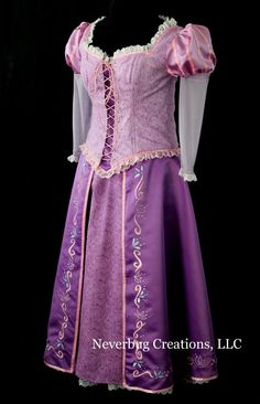 Rapunzel Parks Version Custom Costume by NeverbugCreations on Etsy