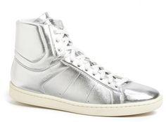 Saint Laurent 'Classic Court' Lambskin Leather High Top Sneaker