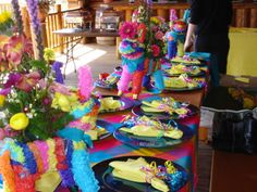 fiesta centerpiece ideas | Cover That Up! Linens: Specialty Linens for weddings, banquets